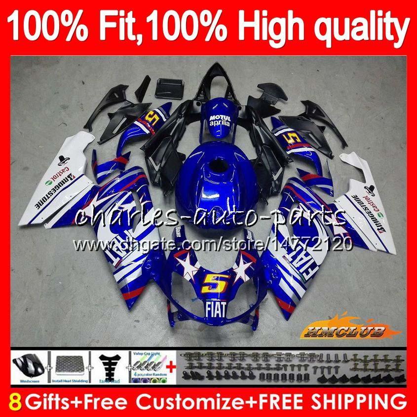 Injeção Para Aprilia RS4 RS 125 R RSV125 RS125R RS125 branco azul 69HC.18 RS125 06 07 08 09 10 11 2006 2007 2008 2009 2010 2011 carenagens