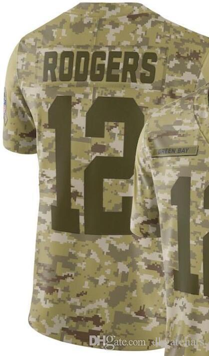 Мужская футболка Green Bay 12 Jersey Мужская футболка американского футбола мужская All Teams Camo Salute to Service Пенсионер с ограниченной футболкой