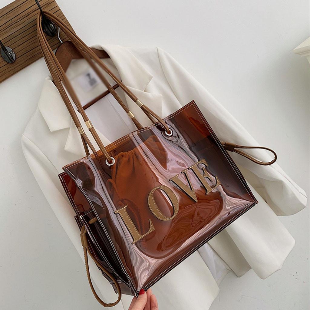 Sacs Haut-manche pour les femmes grandes sacs transparents fourre-tout pour les femmes sacs à main transparent main # H30