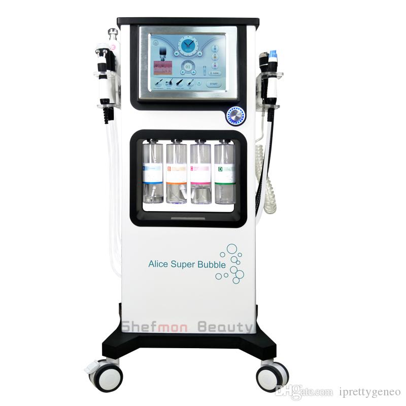 7 في 1 Hydrafacial الأكسجين CO2 RF الموجات فوق الصوتية آلة آلة الوجه الماء الأكسجين هيدرا الأكسجين الوجه آلة بندقية رش