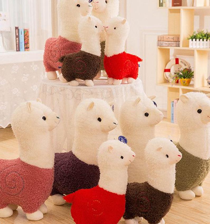28 cm / 11 inç Llama peluş Arpakasso Dolması Hayvan Alpaka Yumuşak Peluş Oyuncaklar Kawaii Noel hediyesi KKA7514