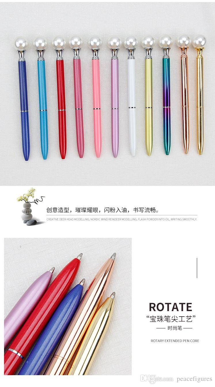 Fashion Color Luxury Pearl Ballpoint Pens Fashion School Office Supplies New Design Big Gem Metal Ball Pen Student Gift 1226 Good Pens Gift Pens From Peacefigures 1 04 Dhgate Com