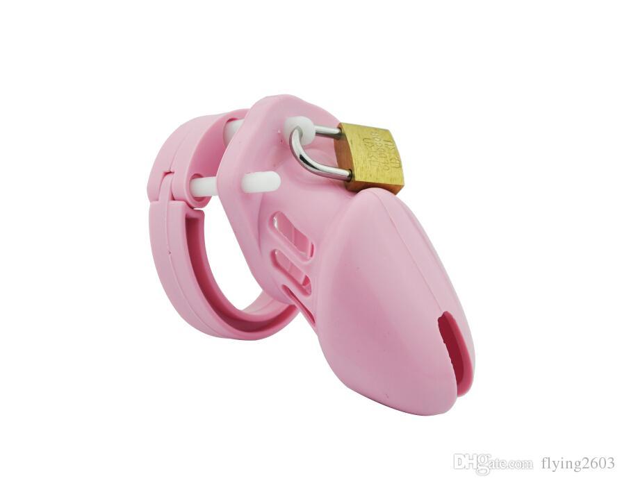 ذكر العفة جهاز لينة سيليكون قفص صغير وخاتم للرجال A122