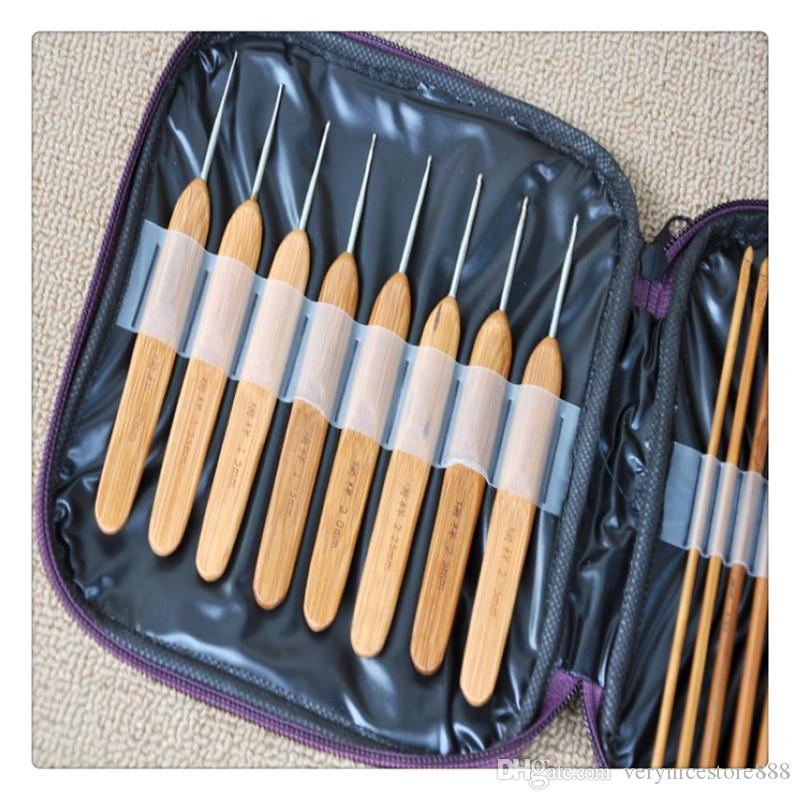 Hot Sale Bamboo Crochet Hooks Home Supplies fulfill different needs Knitting Needles with Case Convenient Needles Hand Tools Practical