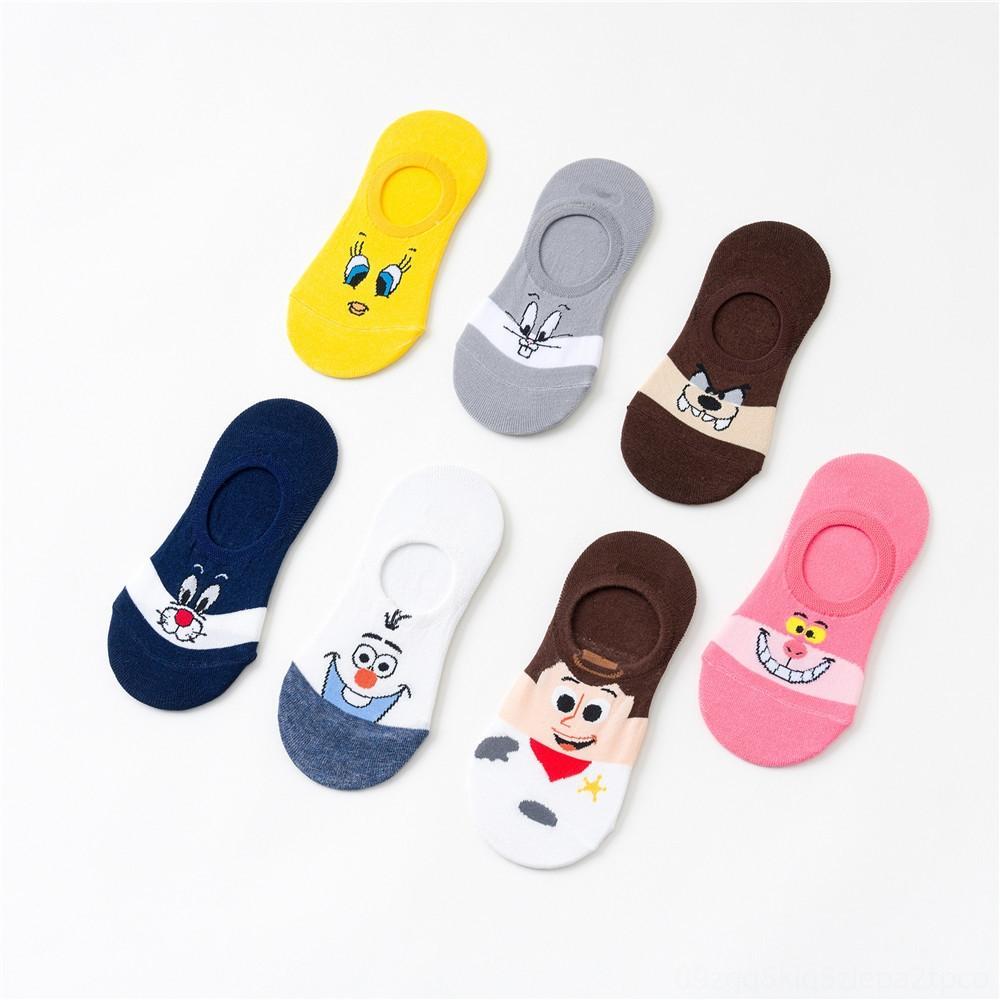 Summer leisure female Korean female animal cartoonankle cute Women's Underwear Underwear invisible socks thin cotton socks slippers