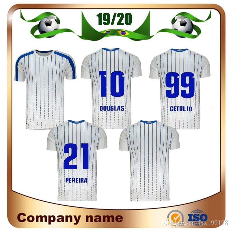 Maillots de pé Campeonato Brasileiro Avai FC Jersey 19/20 Longe Douglas Getulio Pereira Camisa Personalizado Futebol Uniformes