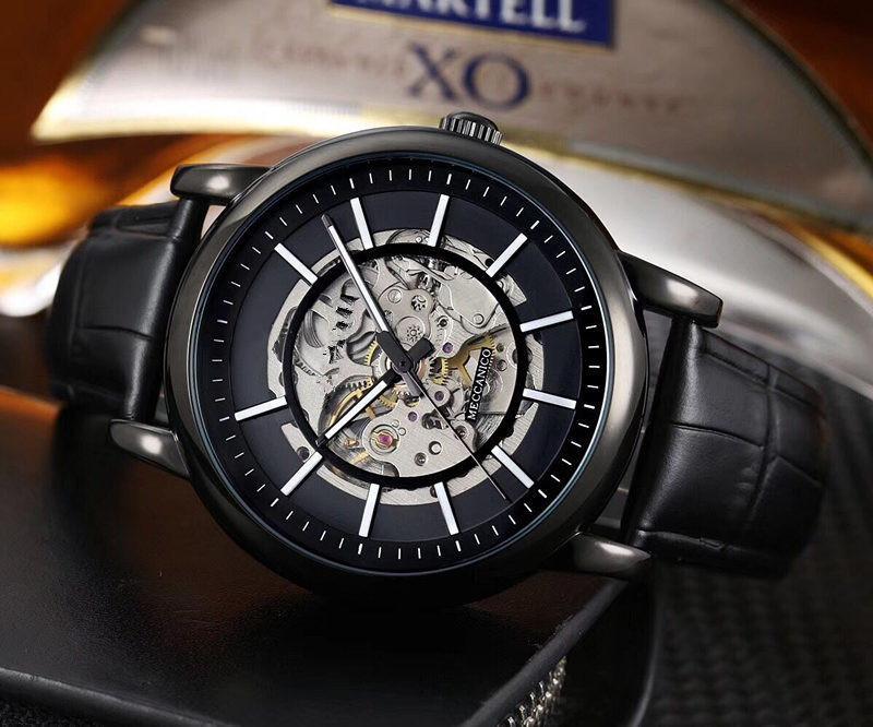 Modelli di esplosione di lusso di marca vigilanza del wristband 42 millimetri cintura orologio meccanico movimento meccanico automatico degli uomini di sport degli uomini orologio da polso impermeabile