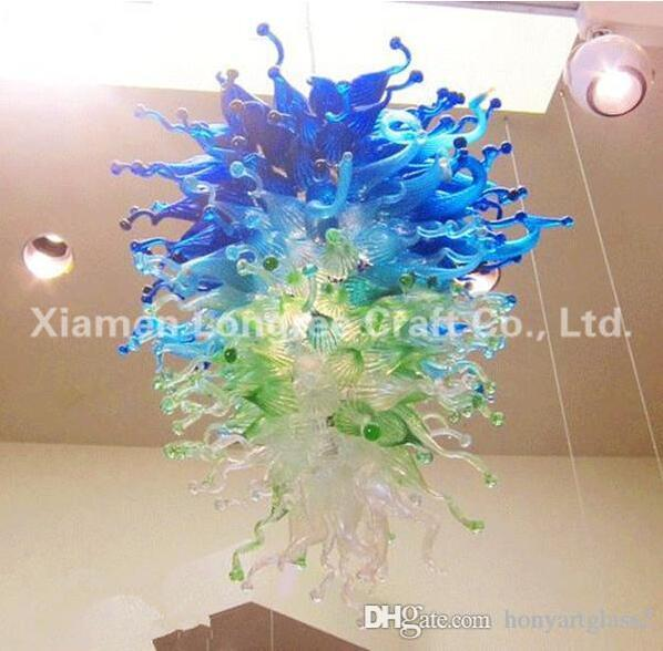 Fatto a mano soffiato cristallo Chandelier Modern Art Custom Design Decorative LED colorati in vetro di Murano Lampade a sospensione