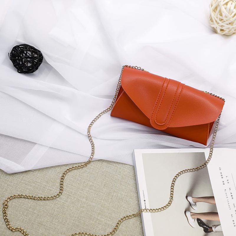 2020 Sommer und Herbst neue koreanische Version der Abdeckung Kette lang breite Zunge kleine Tasche slung Schulter Damen Handtasche