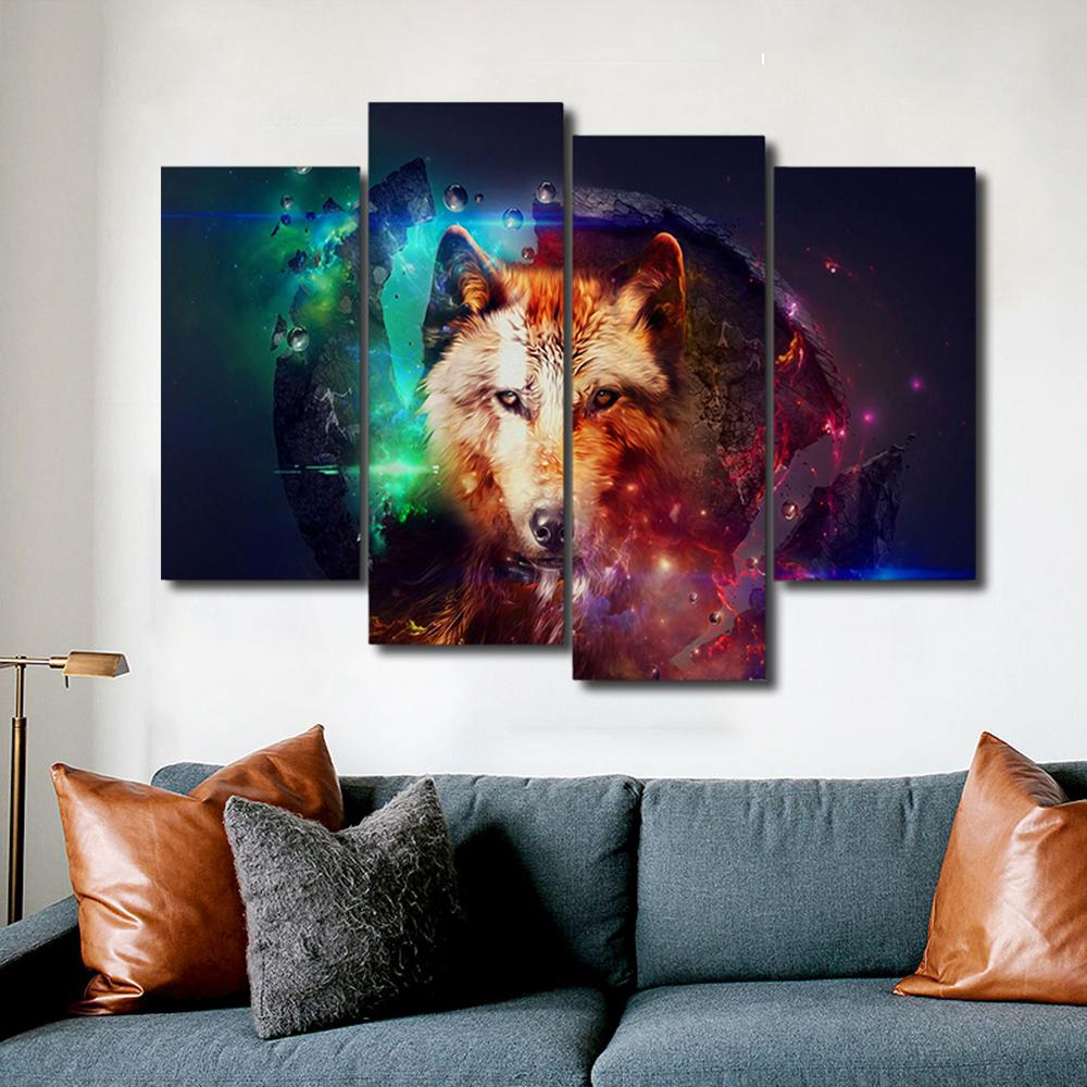Colorful  Animals Canvas Painting Calligraphy Prints Home Decorative Wall Art Paintings Pictures For Living Room Bedroom