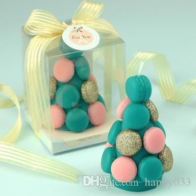 Baby boy girl Adult Birthday candle gift box packing lovely Macaron shape Candle Adorable Party Cake Topper Baby Shower Favors #472