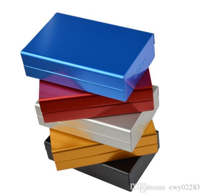 Sürgülü kapak otomatik alüminyum alaşım sigara kutusu yüksek dereceli otomatik sürgülü açık taşınabilir kutu nokta toptan