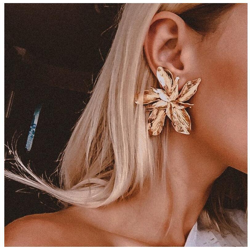 Flor Big Moda Dangle brincos para mulheres senhoras Declaração de jóias mulheres Brincos Chandelier New Pendientes