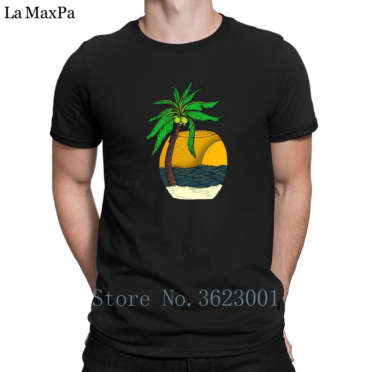 Proyectos divertido Hombres camiseta casual del sol tropical Camiseta para hombre Hiphop 100% algodón T Shirts Unisex camiseta de sitios únicos