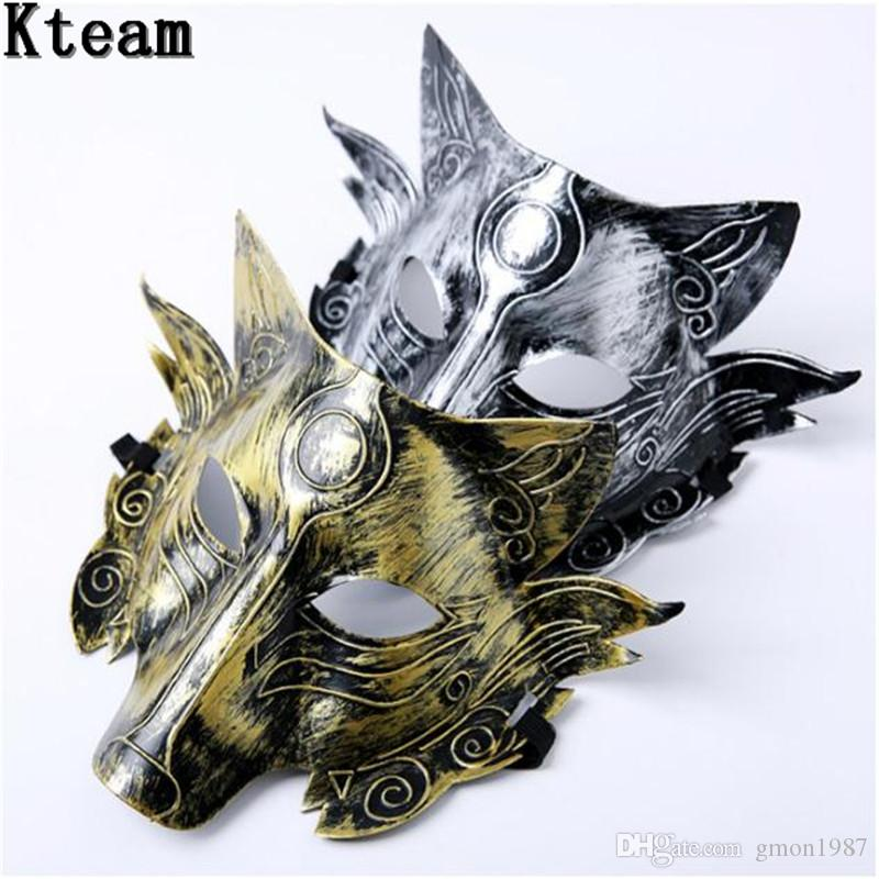 Top Grade PVC Party Wolf Mask Halloween Masquerade Party Masks Costume Wolves Ball Bar Decoration Adult for Party Costume