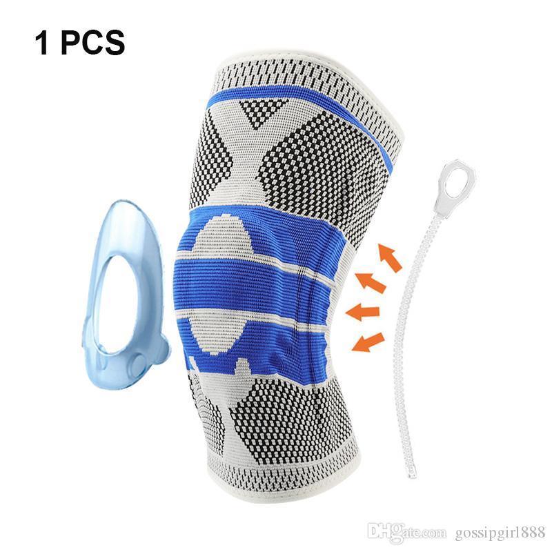 1 шт. 3D тканая тяжелая атлетика силиконовая поддержка колена волейбол баскетбол мениск защитник голени спортивная безопасность наколенники