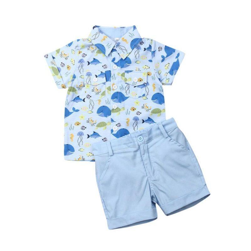 Verano ropa de los sistemas del juego del niño recién nacido caballero bebé para la ropa del bebé de la prendas de vestir trajes de deportes ocasionales 2pcs conjuntos de vaquero