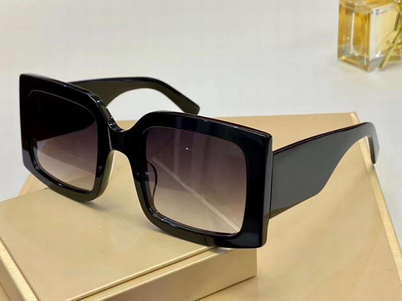 Завышение Квадратные солнцезащитные очки черный серый затушеванный женщин Модные солнцезащитные очки Sonnenbrille Occhiali да единоличное нового с коробкой