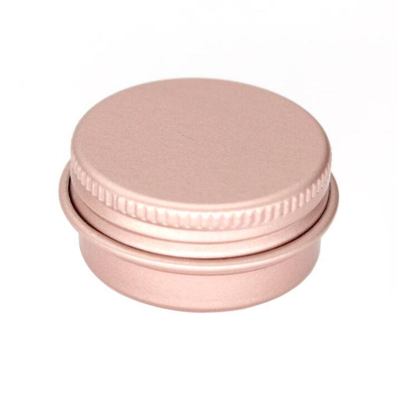 100 x 15g 10g 30g vazio ouro Mini Rose alumínio Creme Jar Pot Maquiagem Nail Art Lip Gloss Esvaziar Cosmetic metal latas Containers