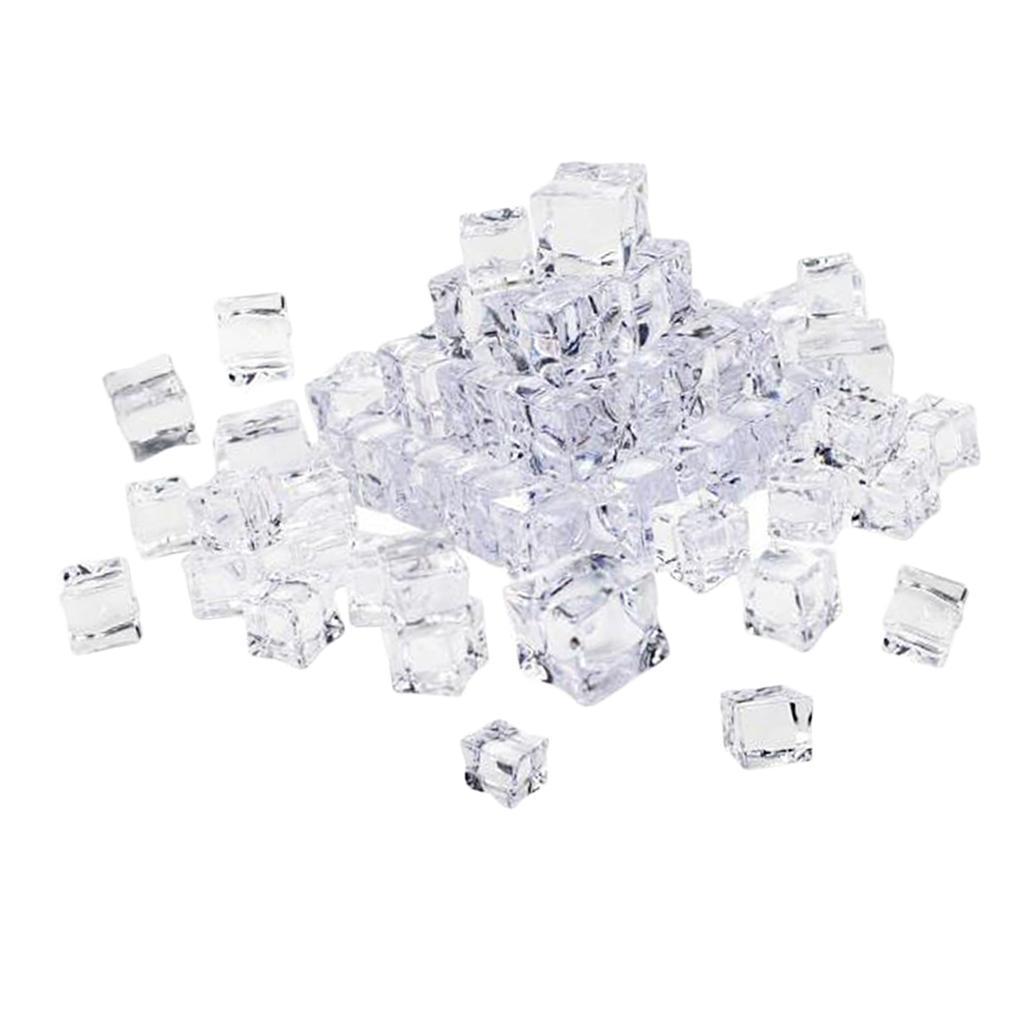 Hielo simulado falso Clear Cube Ice Bar KTV Foto Apoyos Modelo Decoración