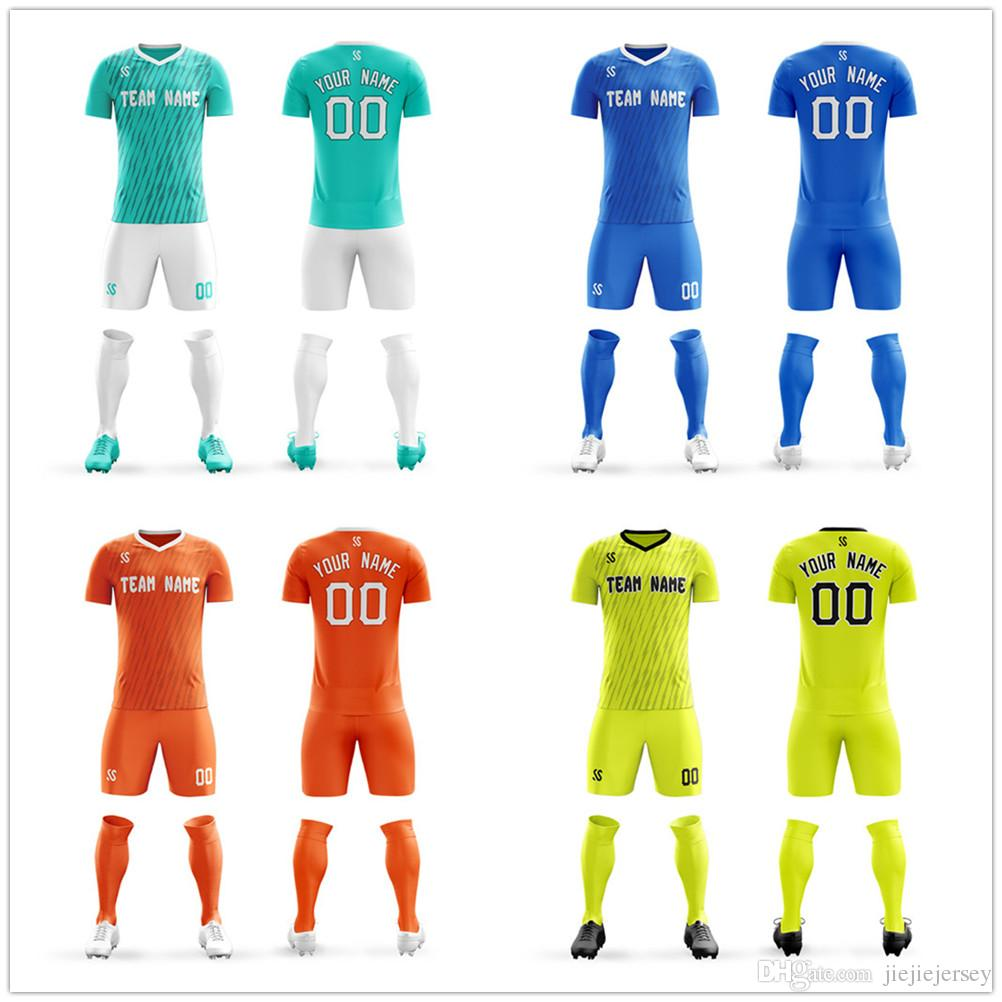 outlet store 03c4b 4301f 2019 Mens Youth Soccer Jerseys Create Team Uniforms Football Training Sets  United Blank Design Customize DIY From Jiejiejersey, $23.36 | DHgate.Com