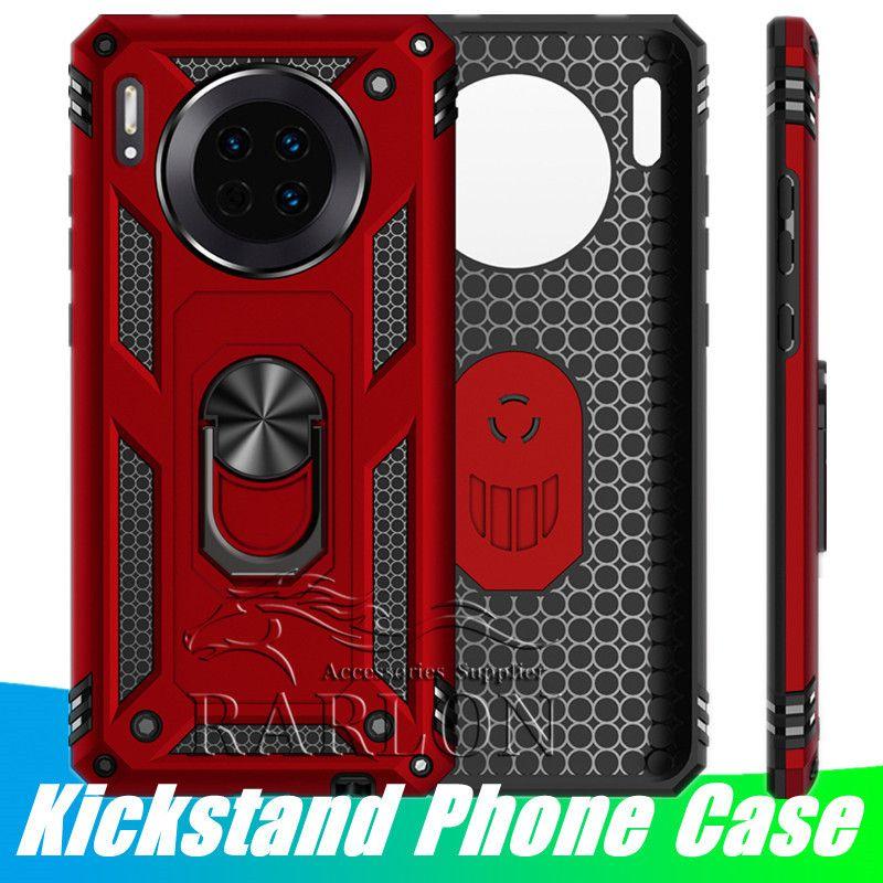 Anello supporto del telefono iPhone Per il caso di 11 Pro Max XS Xr X 8 Inoltre Samsung S20 Ultra Nota 10 S10 magnetico della copertura Standable PC Armatura posteriore dura