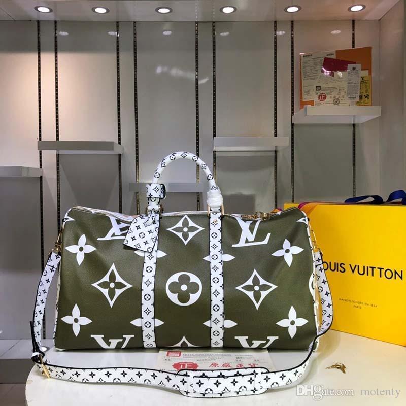 2020 новая роскошная дизайнерская дорожная сумка из кожи и холста Luxury Fashion Designer Travel Bag Fashion Print M44645 A124
