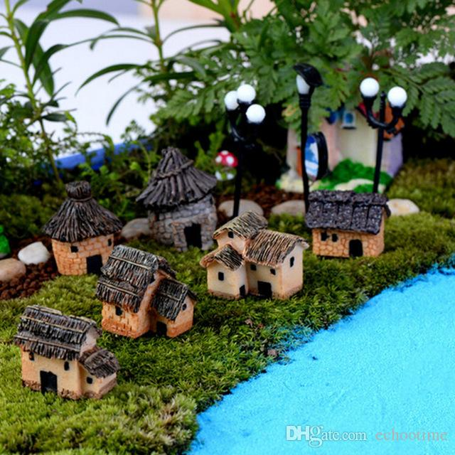 Echootime 500шт каменный дом Фея сад миниатюрный ремесло микро-коттедж пейзаж украшение для DIY кораблей Смолаы