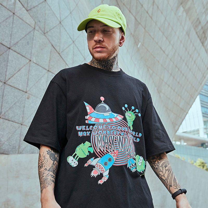 Hip Hop T-shirt 2020 hommes Streetwear drôle de bande dessinée T-shirt à manches courtes Harajuku été T-shirt loose en coton T-shirts Tops