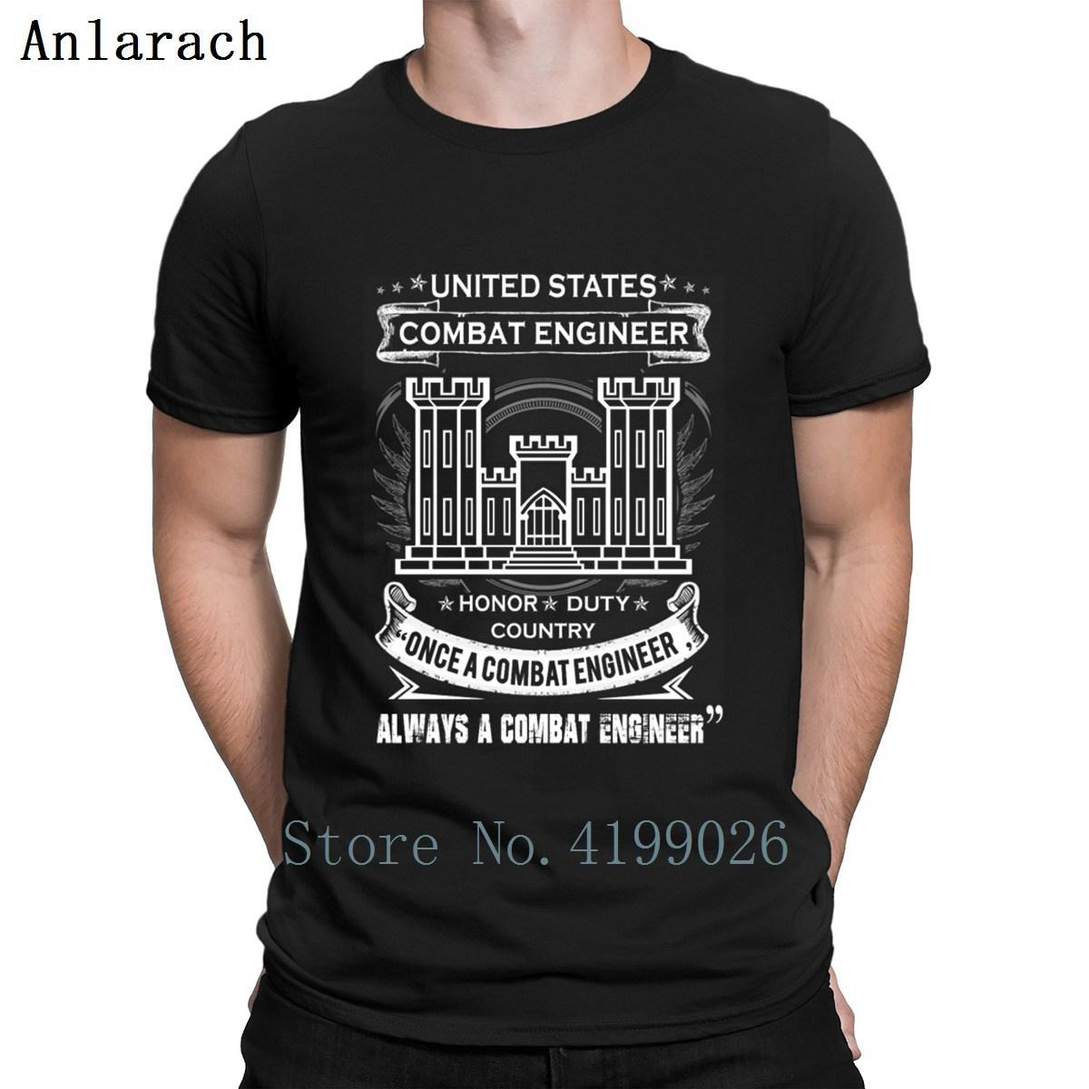 Combat Engineer Us Army Combat Engineer Armee Com T-Shirt Customized neuester Sommer Artmens Street Shirt Baumwolle Homme