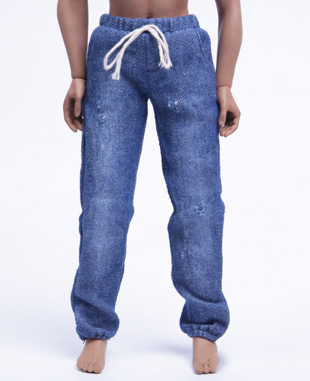 1/6 Scale Dark Blue Casual Pants Leisure Jeans With Hole Trousers Cloth for 12 inches Coomodel Body Figure