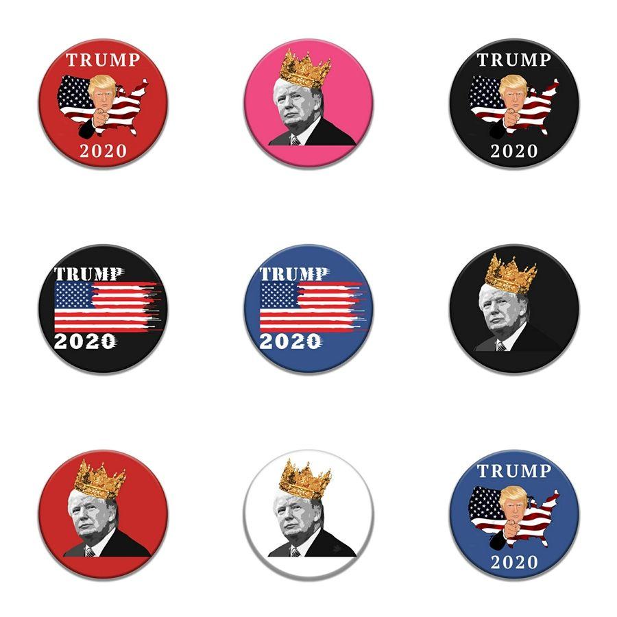 10 PC 1 pulsación de Parches Bordados Por Plancha para la ropa de moda Patch apliques Accesorios de costura Trump insignia en la ropa Iro # 24