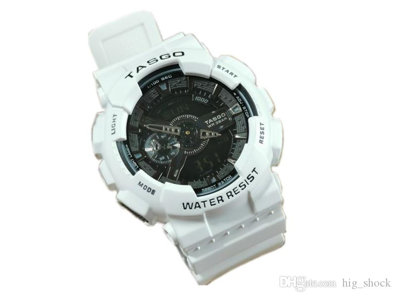 청소년을위한 2020 5PCS / 많은 NEW G 브랜드 남성의 손목 시계, 스포츠 듀얼 디스플레이 GMT 디지털 LED reloj 아저씨 군사 시계 relogio의 masculino