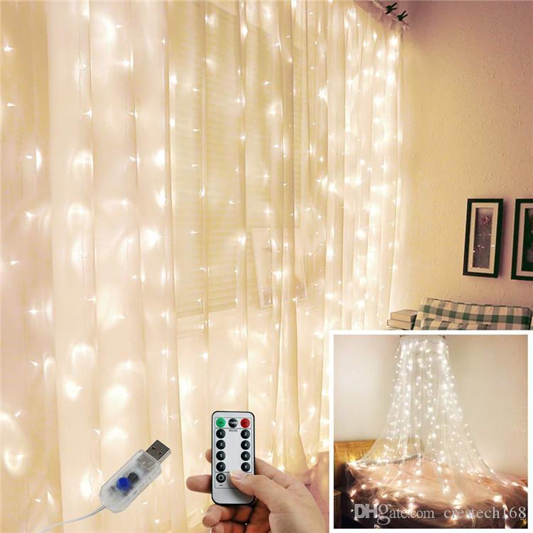 3x3 300 LED Icicle Dize Işıkları LED Noel Noel Işıkları Peri Işıkları Düğün / Parti / Perde / Bahçe Deco için Açık Ev