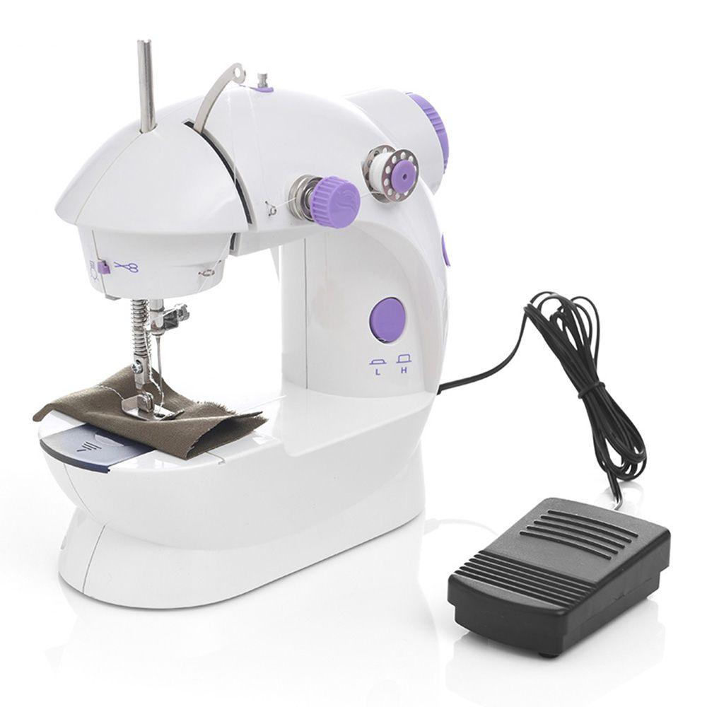 Pedale DHL Nave Mini Handheld Macchine da cucire Dual Speed filo doppio multifunzione battistrada elettrica Rewind macchina per cucire