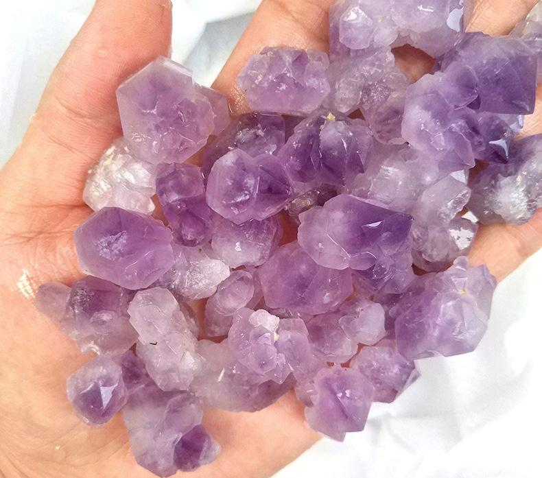 200g Purple quartz crystal gravel stones Healing fish tank stone home decoration