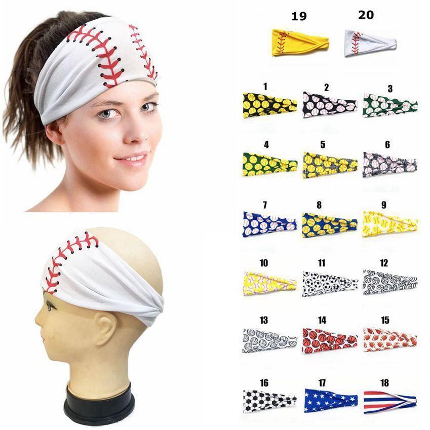 Softball Baseball Sports Sweat estiramento Carneiras Mulheres Meninas Yoga aptidão cabelo Football Bandanas Ampla Correndo Scarf Hairband LJJA3826