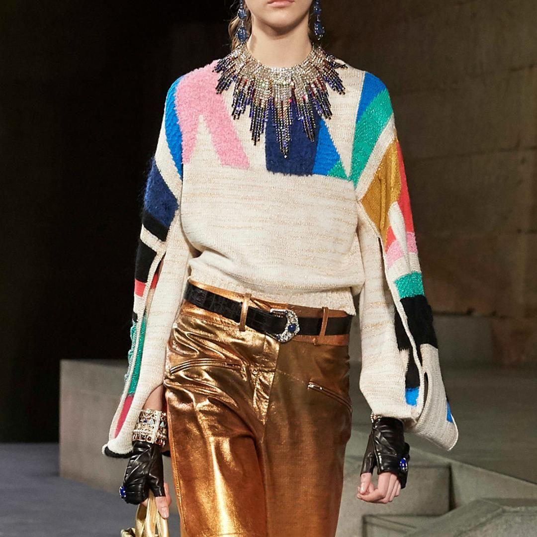 Jastie Colorblock schicke Frauen-Strickjacke strickte Winter 2019 neue übergroße Pullover-Strickjacken-Spitze blusa de frio feminina Überbrücker geben Verschiffen frei