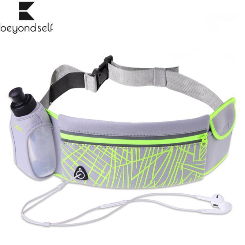 Bolso deportivo Bolsos de bolsillo Botella de agua Botella de agua Anti-robo exterior Invisible Multifuncional Impermeable Teléfono móvil Cintura 200811 VLGJX
