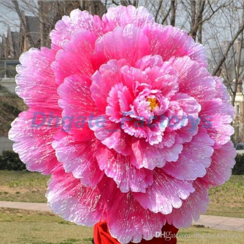 70cm Retro Chinese Peony Flower Umbrella Props Dance Performance Props Wedding Decoration Photograph Fancy Dress Umbrella JF-607