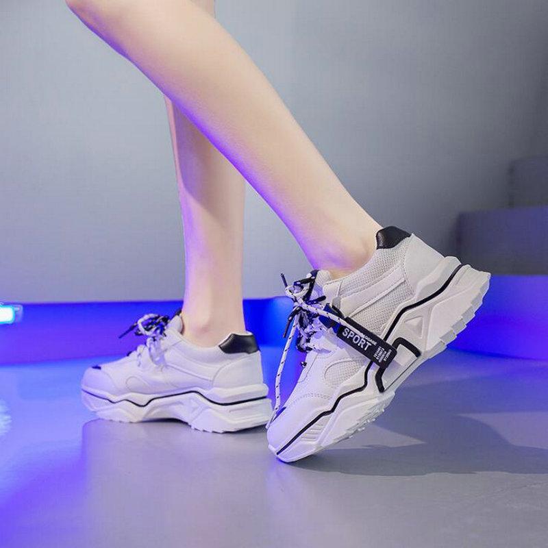 2019 Sommer neue Frau Turnschuhe Breathable Running Schuhe Frauen Lace-up beiläufigen Sportschuh Netz C34-08