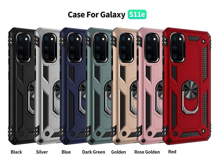 Para Samsung S21 Nota 20 20 Ultra S20 Smetal Ring Stand Case Kickstand Cover Galaxy Nota 10 S10 PLUS S9 A10E A20 A51 A71 5G