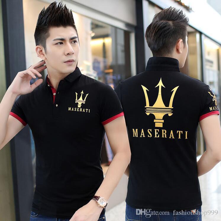 Maserati Crown Polo Shirts Golf Slim Komfortable Designer Formale Polo-Shirts mit Baumwollmischung für Männer Größe M-5XL