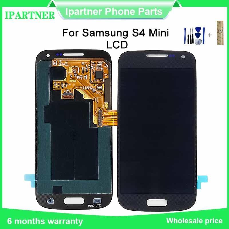 4.3Inch Super OLED para Samsung Galaxy S4 para Mini i9190 i9195 LCD Screen Display Toque Assembléia digitalizador substituição Parts + Ferramenta