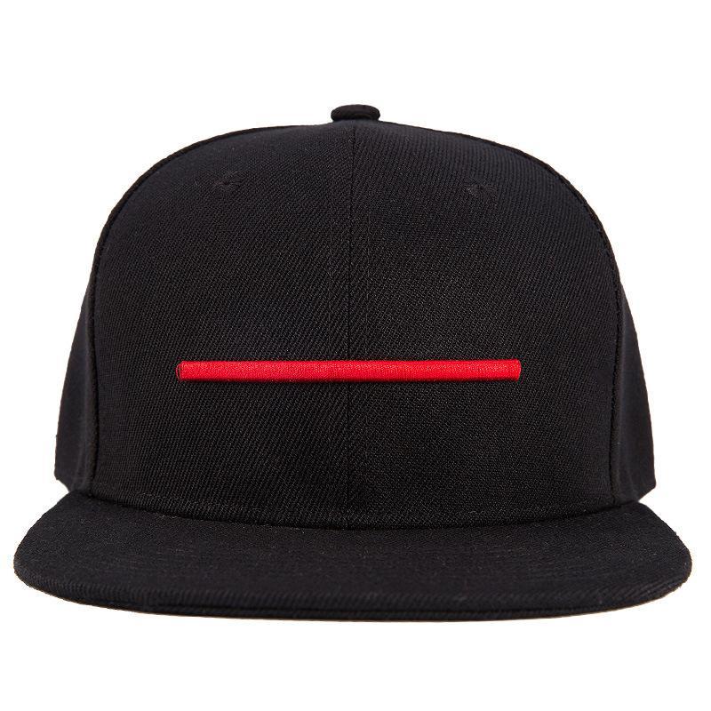Bordado gorra de béisbol roja rayada de la personalidad de Hip Hop de los hombres negros las gorras de verano al aire libre Protección Solar Sport
