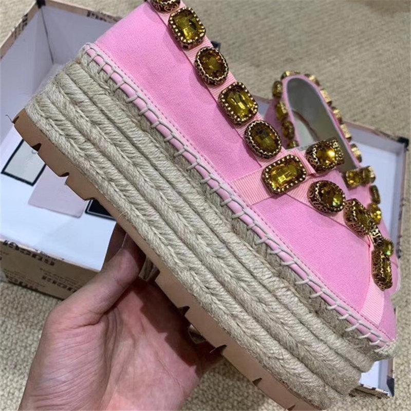 üçlü mücevher kurdele luxe Sıcak satış-bayan ayakkabı Espadrilles lüks gdalslipper