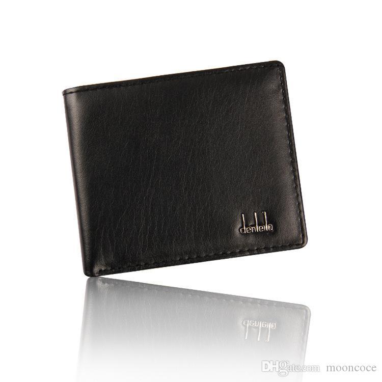 Vintage Männer Dünne Männer Wallet Männer Marke Slim Ledergeldbörsen Geld-Dollar-Kartenhalter-Geldbeutel für Männer