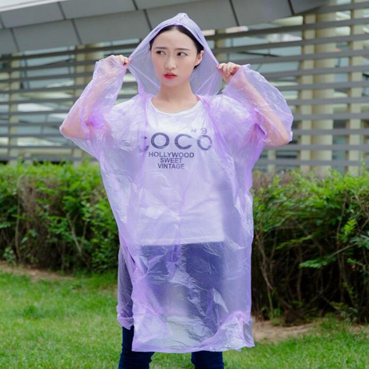 Disposable pe raincoat outdoor travel lightweight cycling one-piece raincoat unisex adult raincoat wholesale DHL free shipping