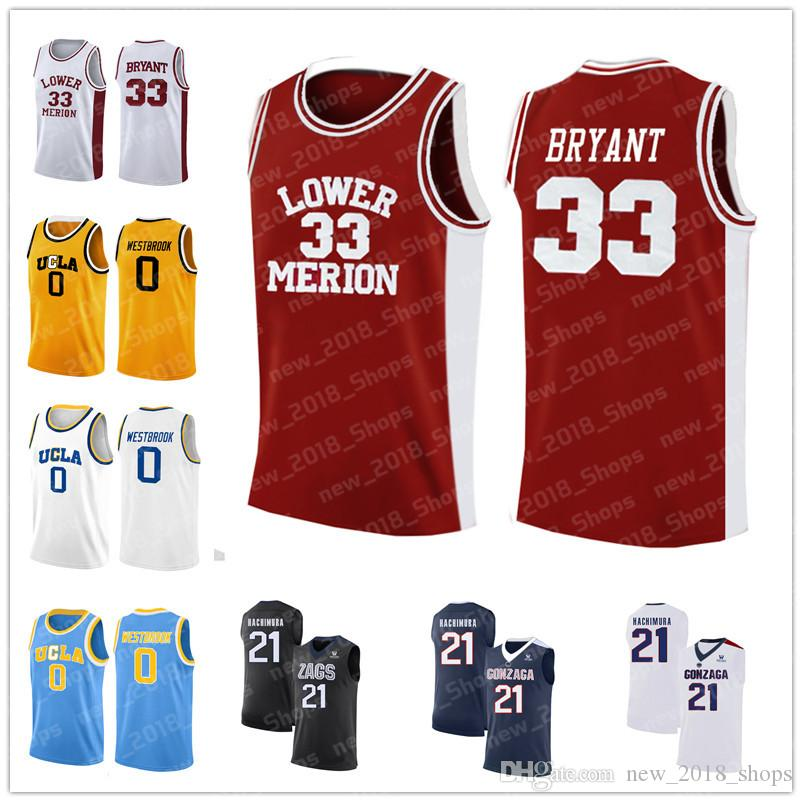premium selection 2f569 83bf5 NCAA Kobe 33 Bryant Lower Merion Jerseys 21 Rui Hachimura Gonzaga Bulldogs  College Russell 0 Westbrook University of California, Los Angeles