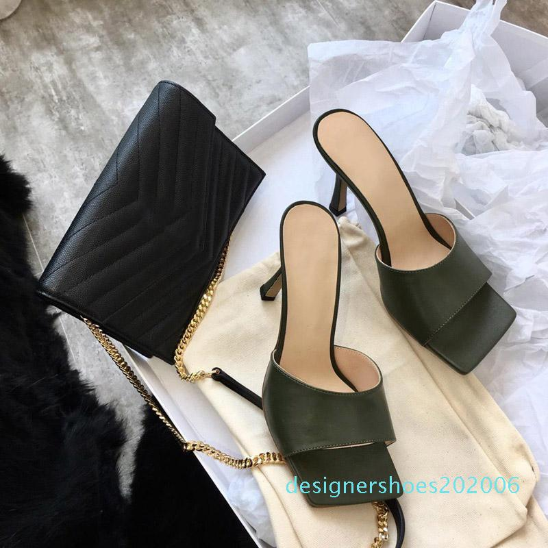 Frauen Designer Flip-Flops Nappa Karree Sandale Stretch-Sandalen Damen Luxus lässige Designer-Pantoffeln Hochzeit Frau High Heels AD06 träumen